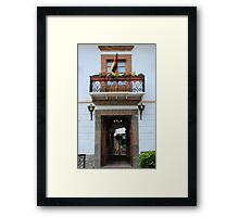 Facade of a Building Framed Print