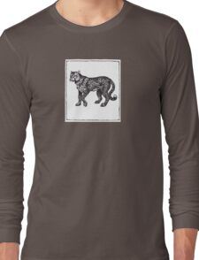 Graphic Cheetah Long Sleeve T-Shirt
