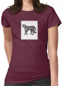Graphic Cheetah Womens Fitted T-Shirt