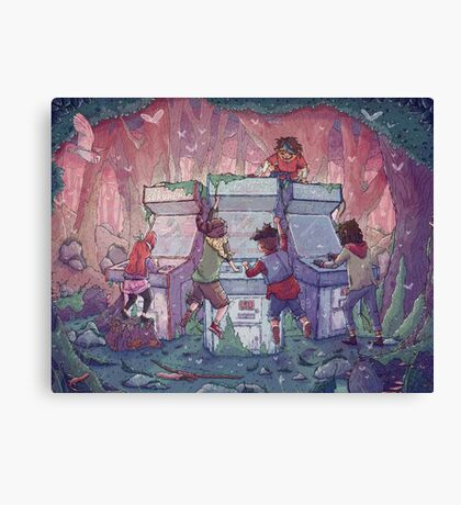 Hardcore Lady-Types: An Ode to Lumberjanes Canvas Print