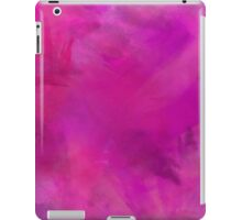 Purple Pink Blue Watercolor Paper Texture Background iPad Case/Skin