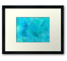 Purple Aqua Teal Turquoise Blue Watercolor Paper Texture Background Framed Print