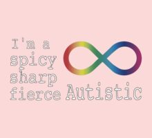 Spicy, Sharp, & Fierce Autism Kids Tee