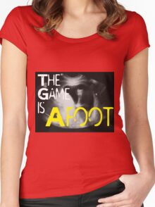 The Game is Afoot Women's Fitted Scoop T-Shirt