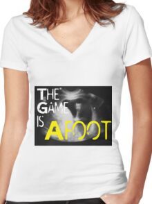 The Game is Afoot Women's Fitted V-Neck T-Shirt
