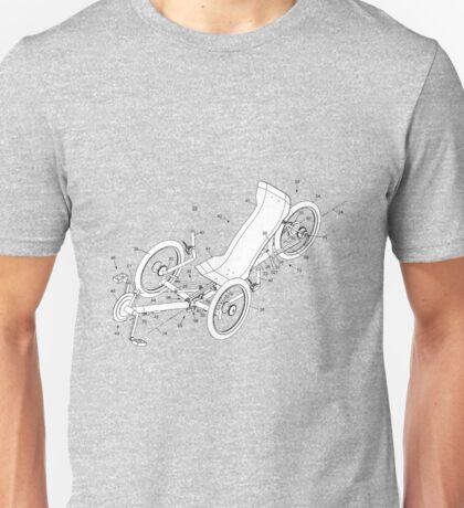Recumbent Bicycle. Unisex T-Shirt