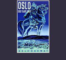 Oslo Norway Vintage Travel Poster Restored Unisex T-Shirt