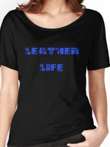 Leather Life Black Women's Relaxed Fit T-Shirt