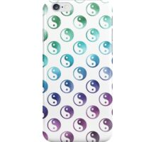 Rainbow Faux Foil Metallic Yin Yang Tao Balance Chinese Taoism Symbol  Background Texture Pattern iPhone Case/Skin