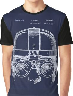Vintage Welders Goggles blueprint detail drawing Graphic T-Shirt