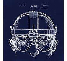 Vintage Welders Goggles blueprint detail drawing Photographic Print