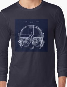 Vintage Welders Goggles blueprint detail drawing Long Sleeve T-Shirt