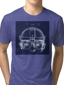 Vintage Welders Goggles blueprint detail drawing Tri-blend T-Shirt