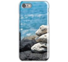 White Coral Zen Rocks on Hawaiian Coast Ocean Water iPhone Case/Skin