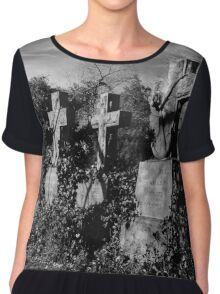 Headstones in Vines Chiffon Top