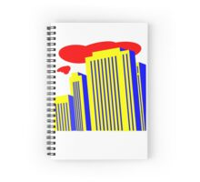 yellow skyscrapers Spiral Notebook