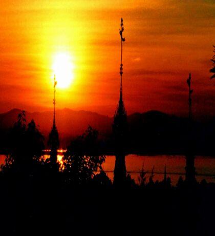 Sunset from Shampoo Island  Sticker