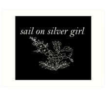 sail on silver girl Art Print