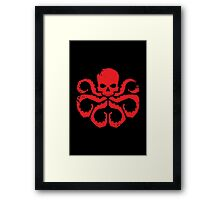 HYDRA Badge - Red Framed Print