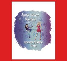 Sindy versus Barbie One Piece - Short Sleeve