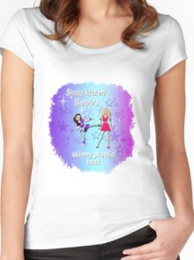 Sindy versus Barbie Women's Fitted Scoop T-Shirt