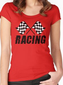 Racing Flags  Women's Fitted Scoop T-Shirt