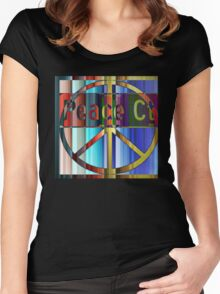 Peace Court Women's Fitted Scoop T-Shirt