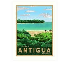 Travel Poster - antigua Art Print
