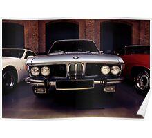bmw e3, classic car Poster