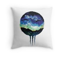 Watercolour Galaxy Sunset Throw Pillow