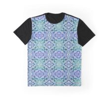 Frosty Blue Seamless Window Pattern Graphic T-Shirt