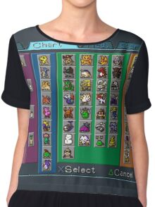 Digimon Chart Chiffon Top
