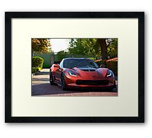 Corvette Stingray 'Shady Lady' Framed Print
