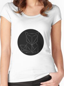 FOX - Simple Geometric design Women's Fitted Scoop T-Shirt