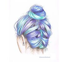 Coloured Hair Photographic Print