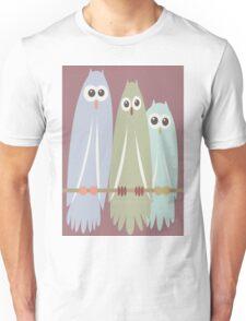 OWL TRIO Unisex T-Shirt