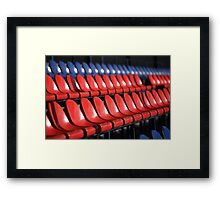 empty stadium seats Framed Print