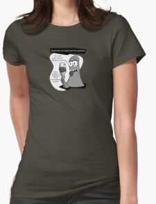 GLOb - Existential Ice Cream Womens Fitted T-Shirt