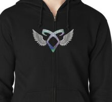 Shadowhunters angelic rune - light Zipped Hoodie