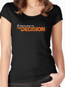 The Division Game Parody Shirt Women's Fitted Scoop T-Shirt