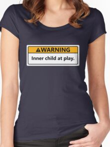 Inner child at play Women's Fitted Scoop T-Shirt