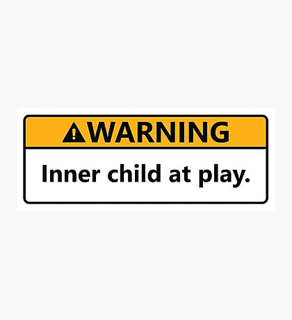 Inner child at play Photographic Print
