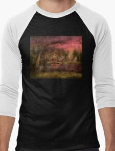 Cabin - De Land, FL - Summer Cottage 1904 Men's Baseball ¾ T-Shirt