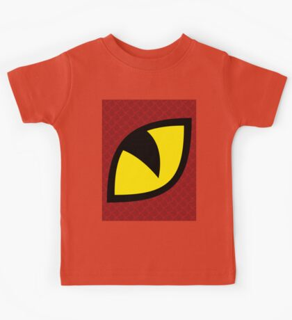 A Big Red Dragon Is Watching You Design Kids Tee