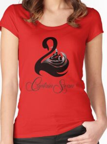 Captain Swan -Black Women's Fitted Scoop T-Shirt