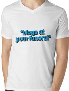 blogs @ ur funeral  Mens V-Neck T-Shirt