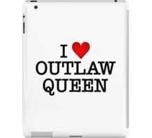 I love Outlaw Queen iPad Case/Skin