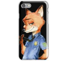 Zootopia Nick Wilde Police Officer/Cop (All Black) iPhone Case/Skin