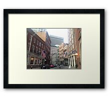 Streets of Downtown Providence  Framed Print