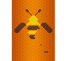 Pixel Bee Photographic Print